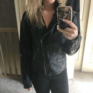 Like new A&F vegan leather jacket